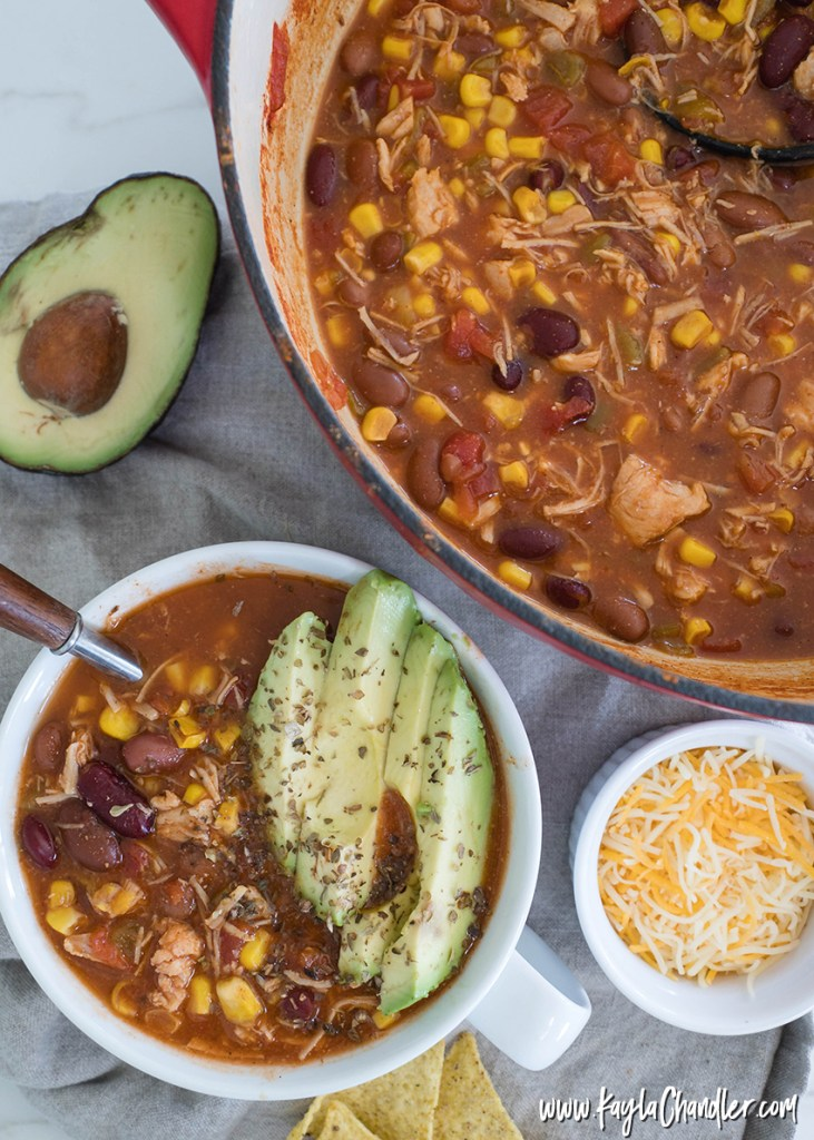 Canned Chicken Chili | Healthy Pantry Meals