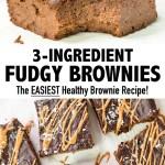 3-Ingredient Fudgy Brownies   Healthy Brownie Recipe
