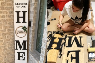DIY Front Porch Sign