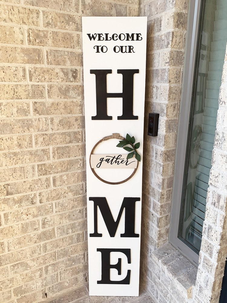 DIY Front Porch Sign (super easy & cheap!)