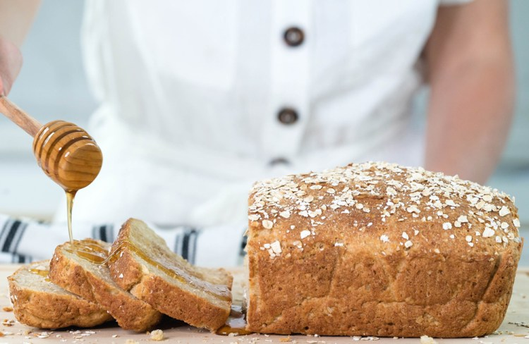 Gluten Free Honey Oat Bread
