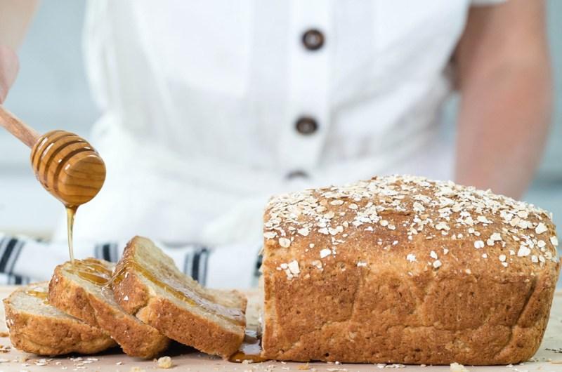 Gluten Free Honey Oat Bread | Homemade Bread Recipe