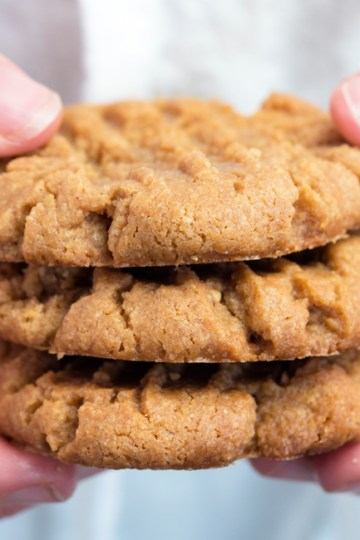 3-Ingredient Classic Peanut Butter Cookies