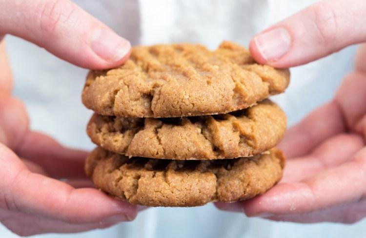 3-Ingredient Classic Peanut Butter Cookies