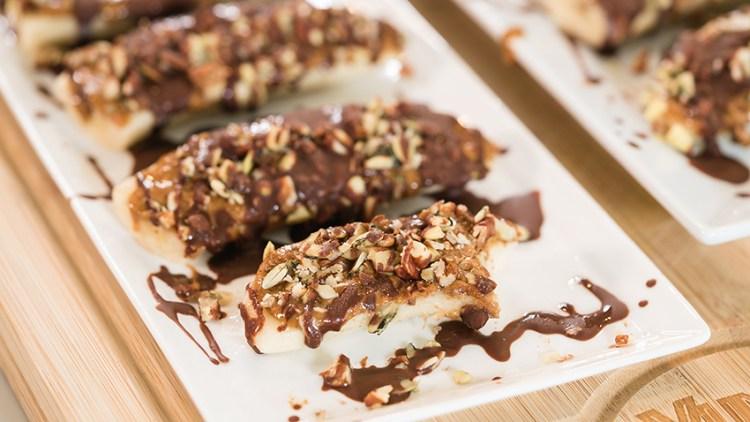 Tiktok Famous Frozen Banana Snickers   Easy Healthy Snack Recipes
