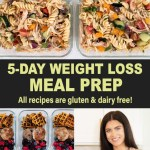 5-DAY HEALTHY MEAL PREP FOR WEIGHT LOSS (gluten & dairy free)