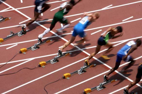 runners starting