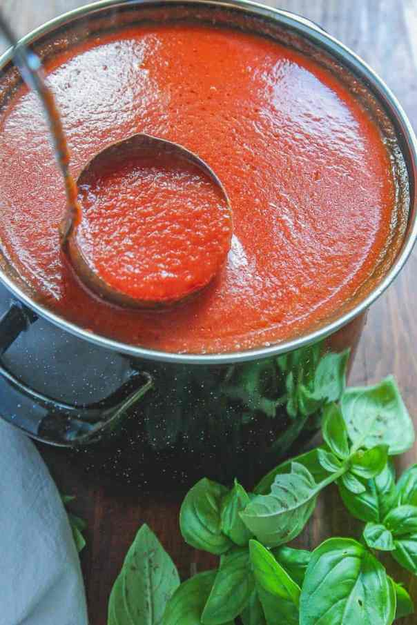 Image result for pasta sauce in a pot