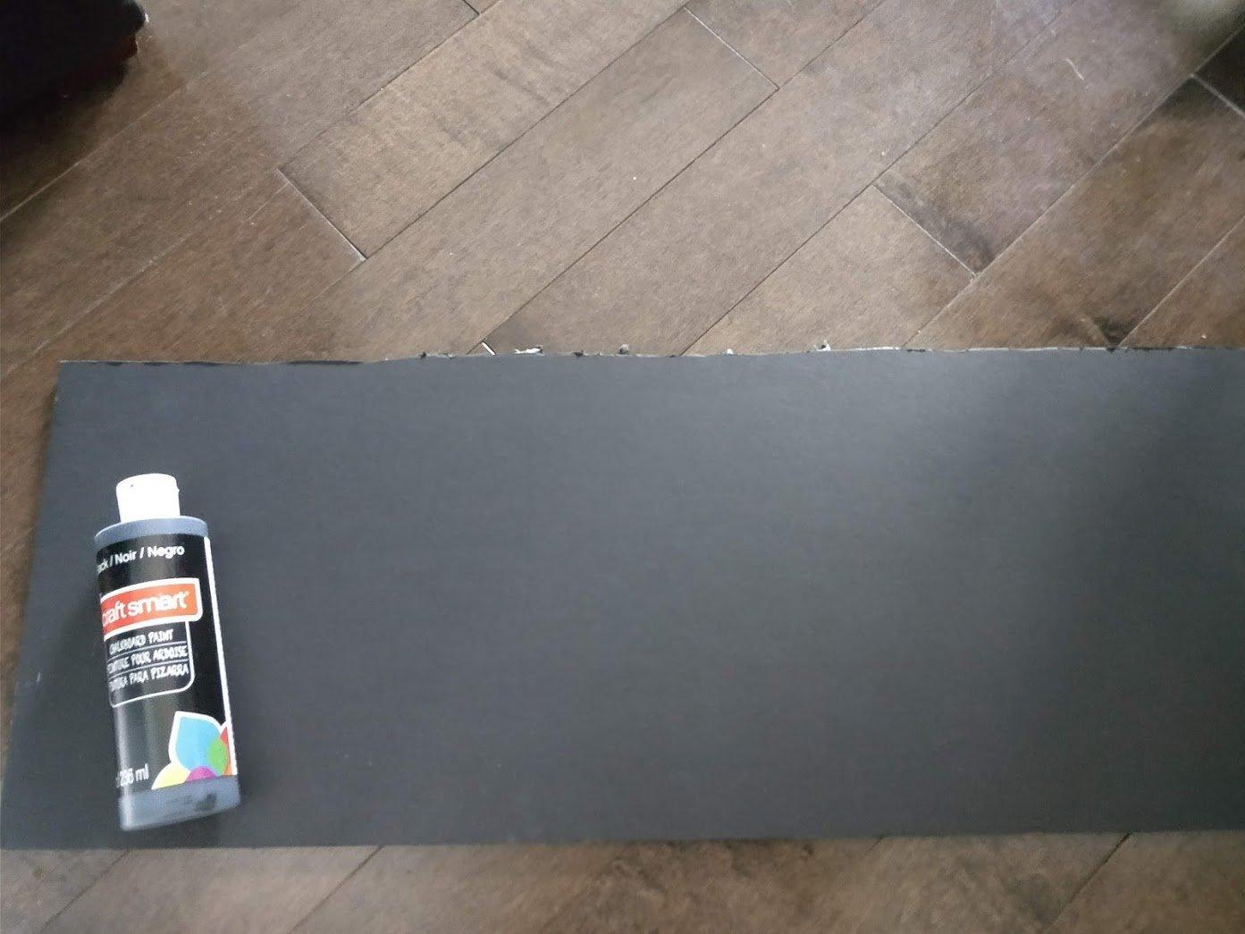 lemonade stand chalkboard paint and foam board
