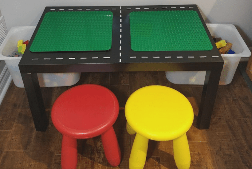 Diy Lego Table With Storage Easy Ikea Hack The Kids Wlll Love