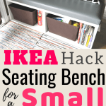 Ikea Besta Hack Diy Seating Bench Perfect For Small Spaces Easy