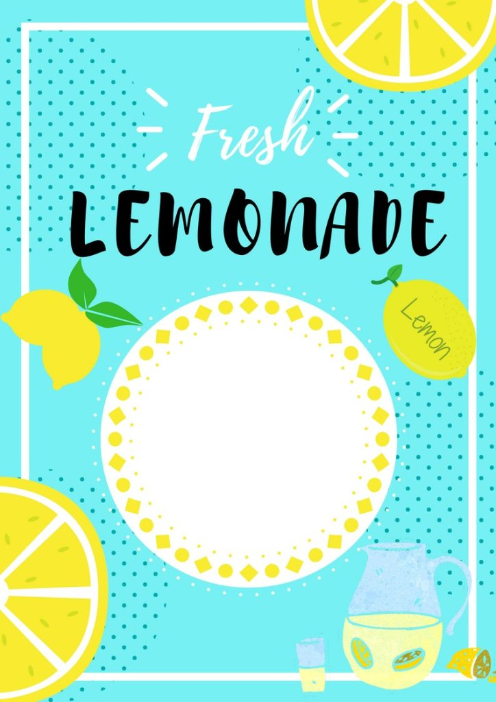 This is a graphic of Shocking Lemonade Signs Printable