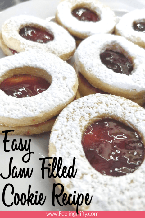 Easy Tea Party jam filled cookies with recipe and free printables