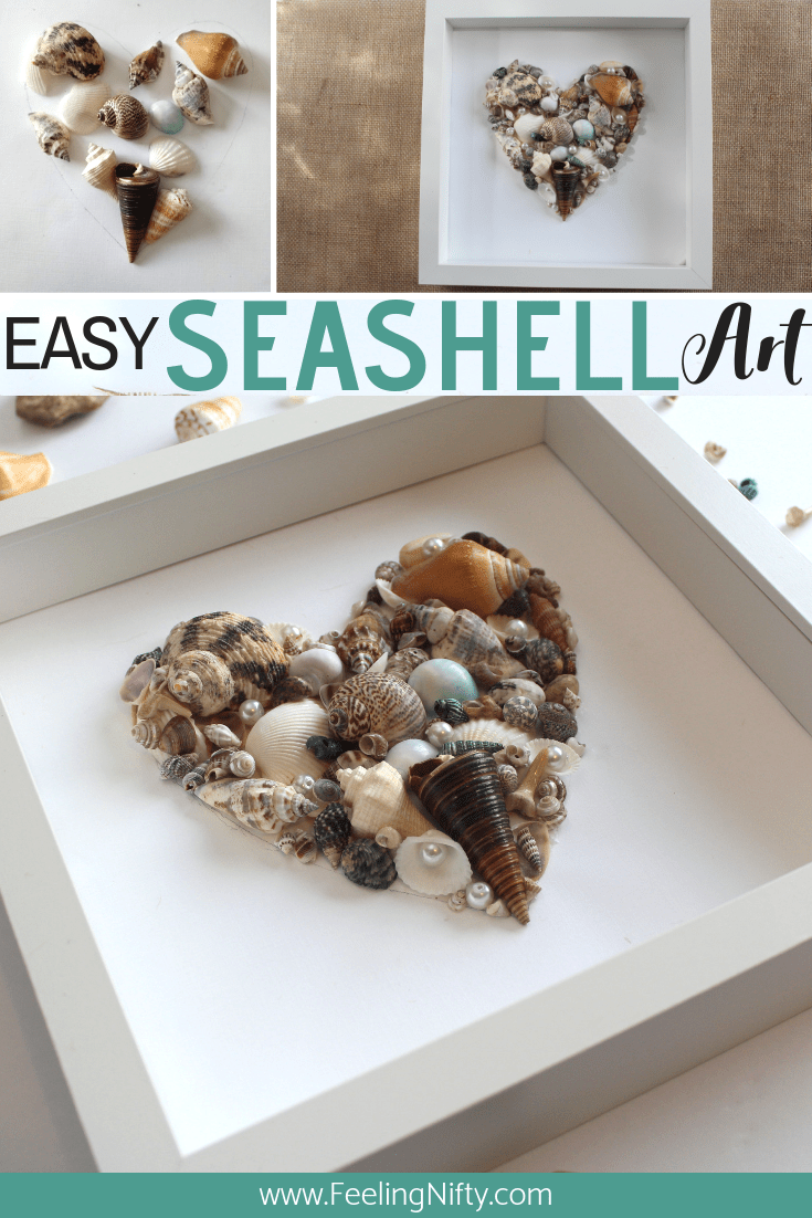 Seashell Art Quick And Easy Diy For Your Home Feeling Nifty