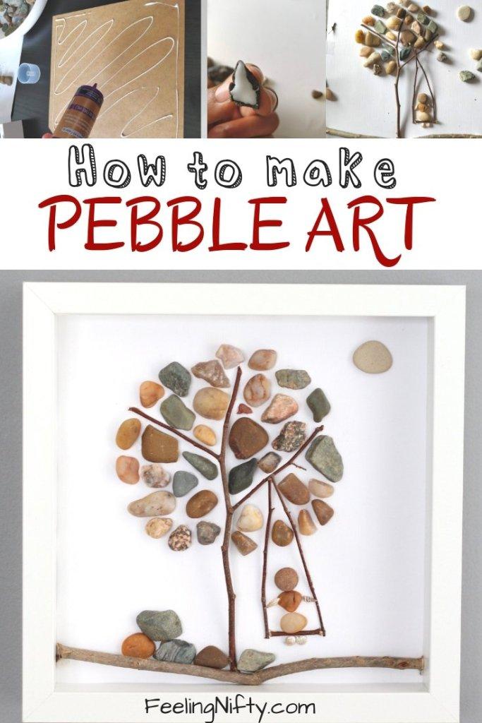 How to make pebble art framed wall art