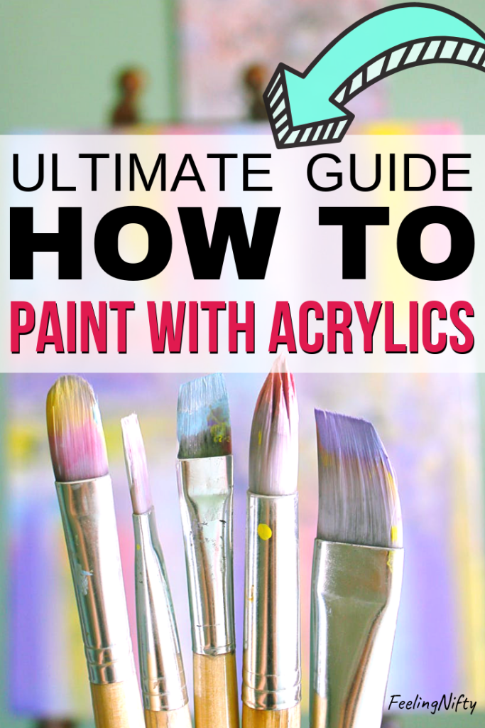 how to paint with acrylics for beginners
