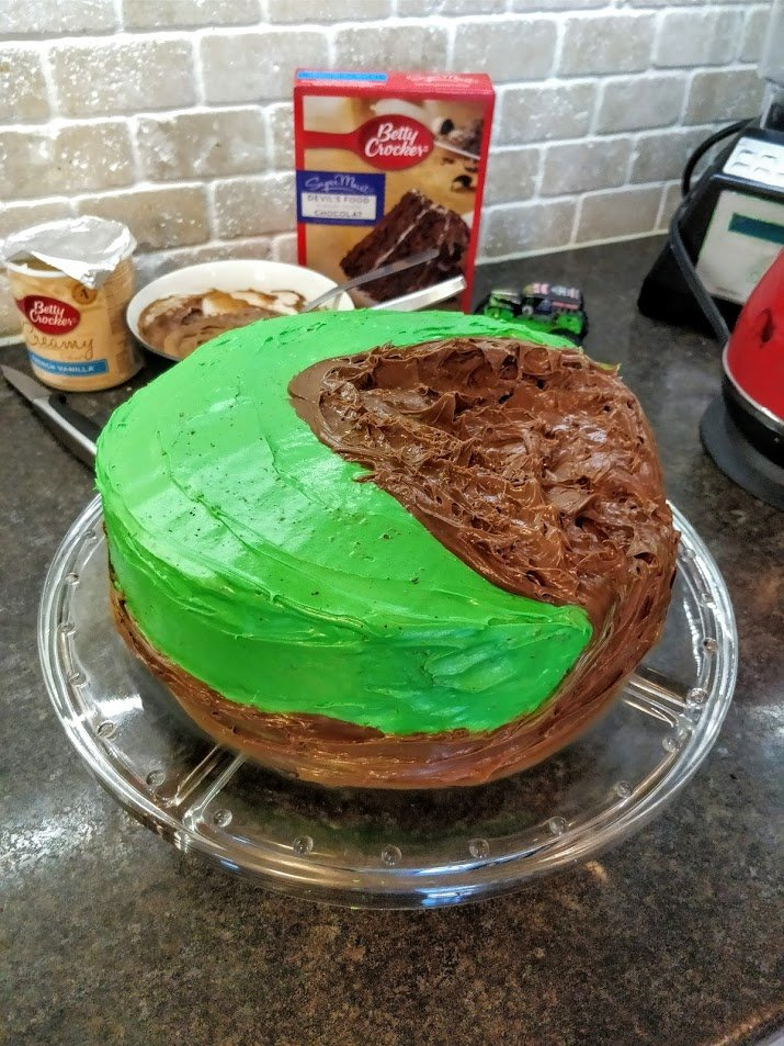 monster truck birthday cake easy