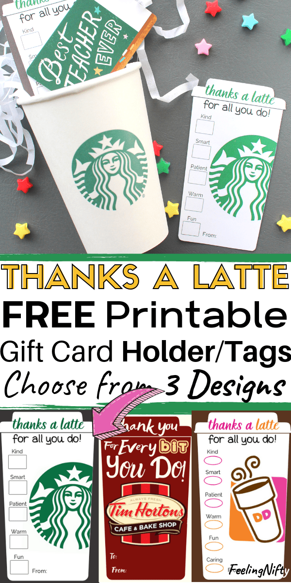 picture relating to Thanks a Latte Printable referred to as 4 Basic \