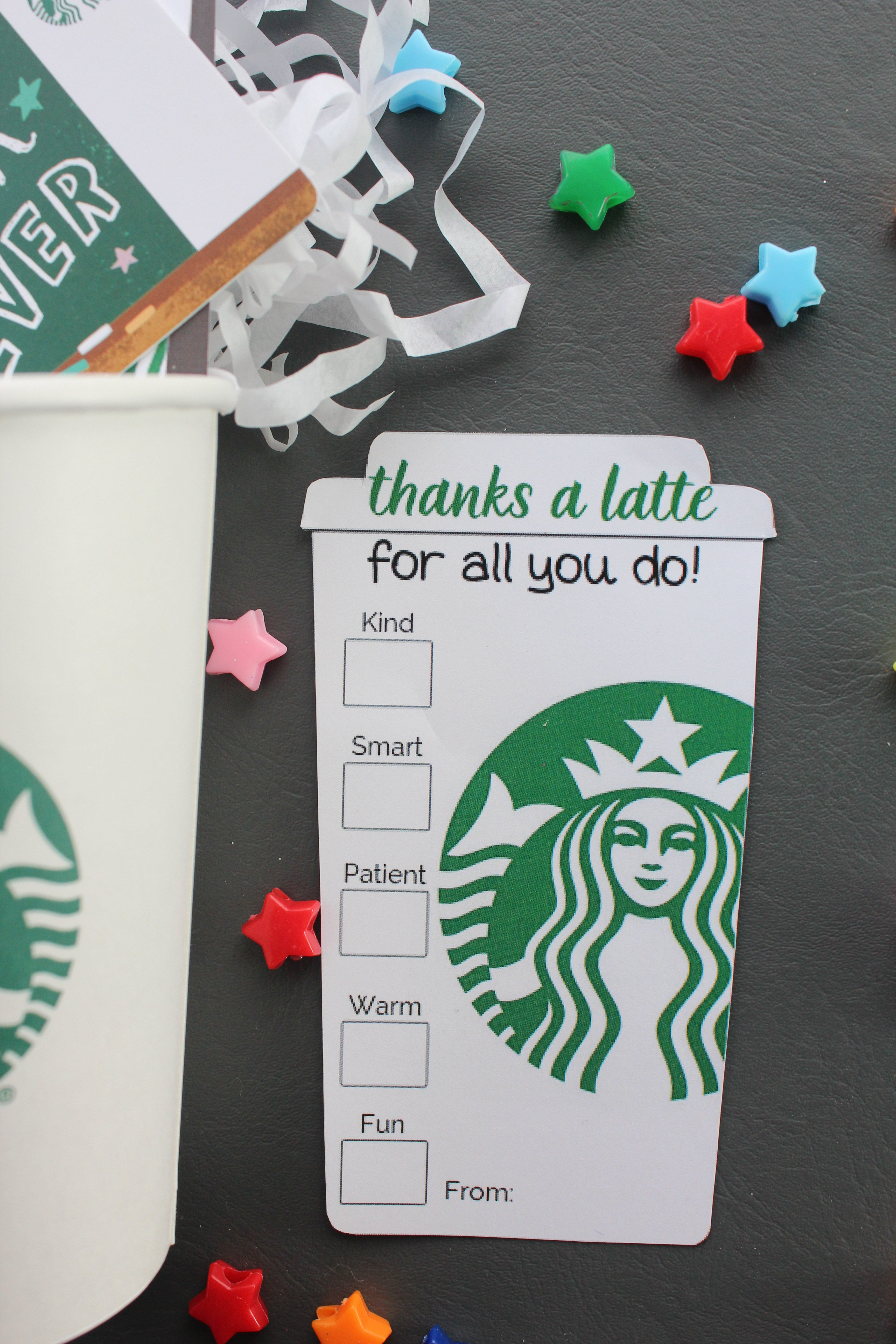 picture regarding Thanks a Latte Printable named 4 Simple \