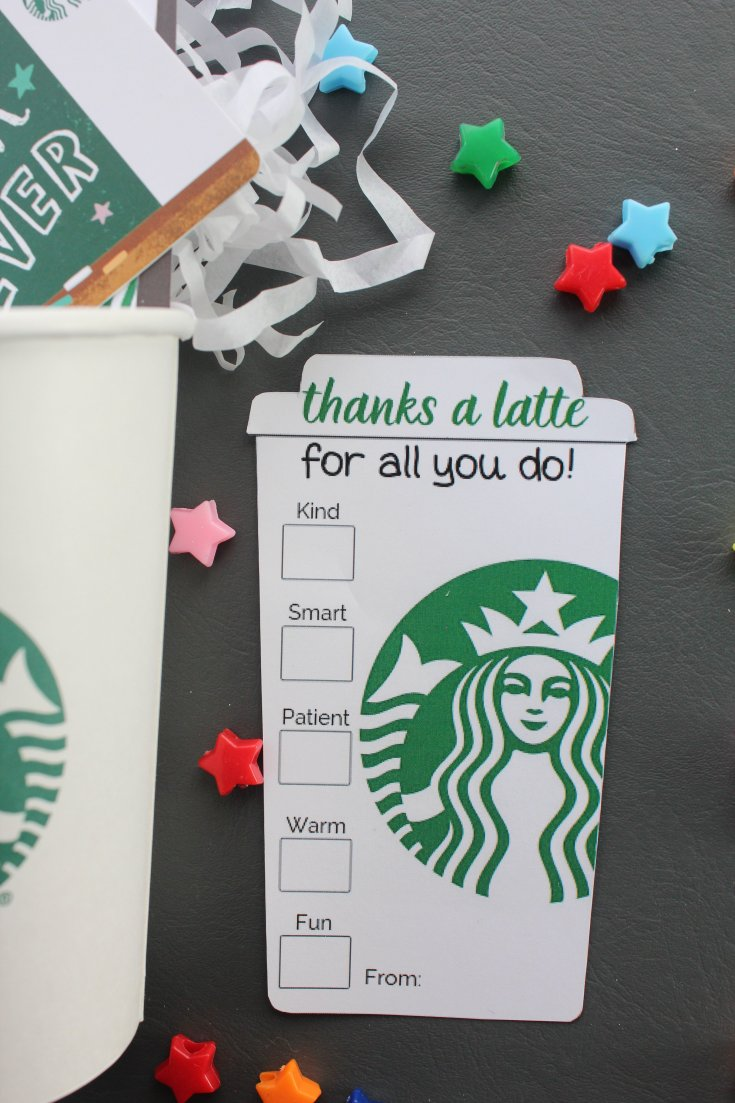 Thanks a Latte Free Printable Designs