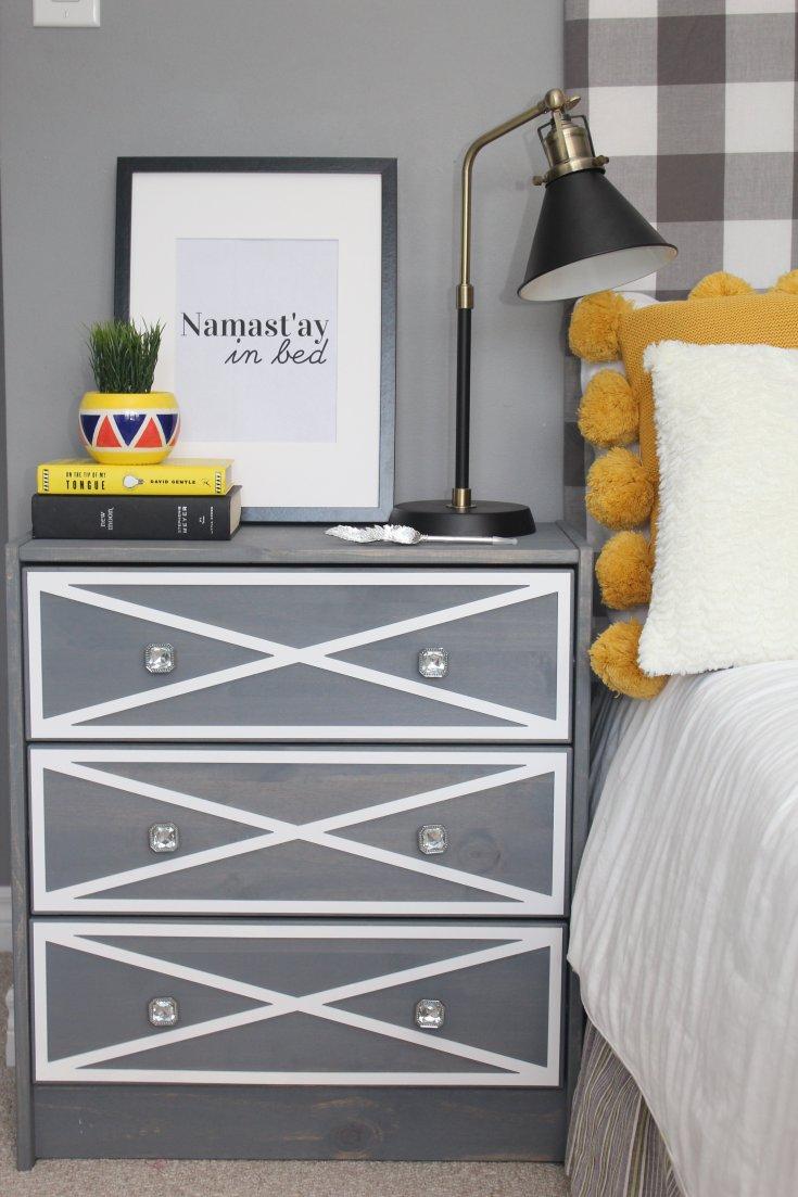 Ikea Rast Dresser Hack with Overlays
