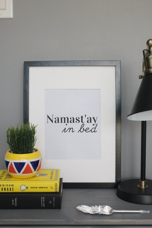 namaste in bed free printable