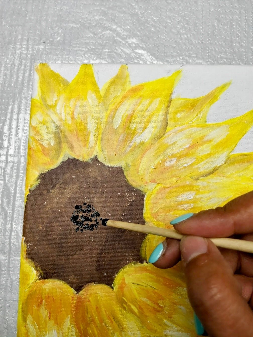 easiest flowers to paint