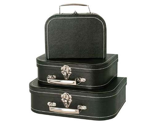 Black Paperboard Suitcases, 3 pieces