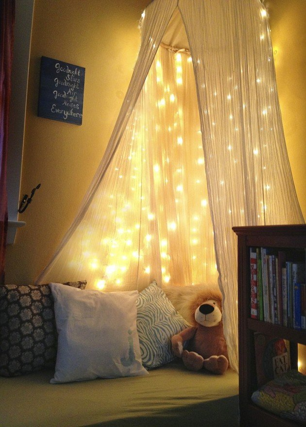 Firefly lights · illuminated photo wall · glow jars · mirror fairy lights · light up your bed · fairy light reading nook · oversize bulb string lights. Eye-Catching Christmas Fairy Lights Decor Ideas for