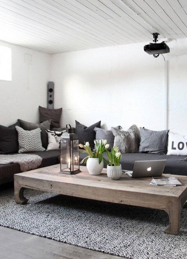 20+ Super Modern Living Room Coffee Table Decor Ideas That ... on Room Decoration  id=29831