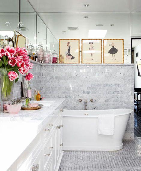 Relaxing Flowers Bathroom Decor Ideas That Will Refresh ... on Floral Tile Bathroom Ideas  id=17685