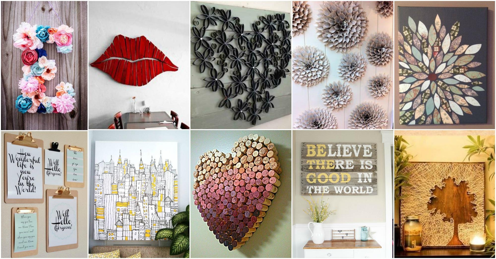 20 DIY Innovative Wall Art Decor Ideas That Will Leave You ... on Pinterest Wall Decor  id=16867