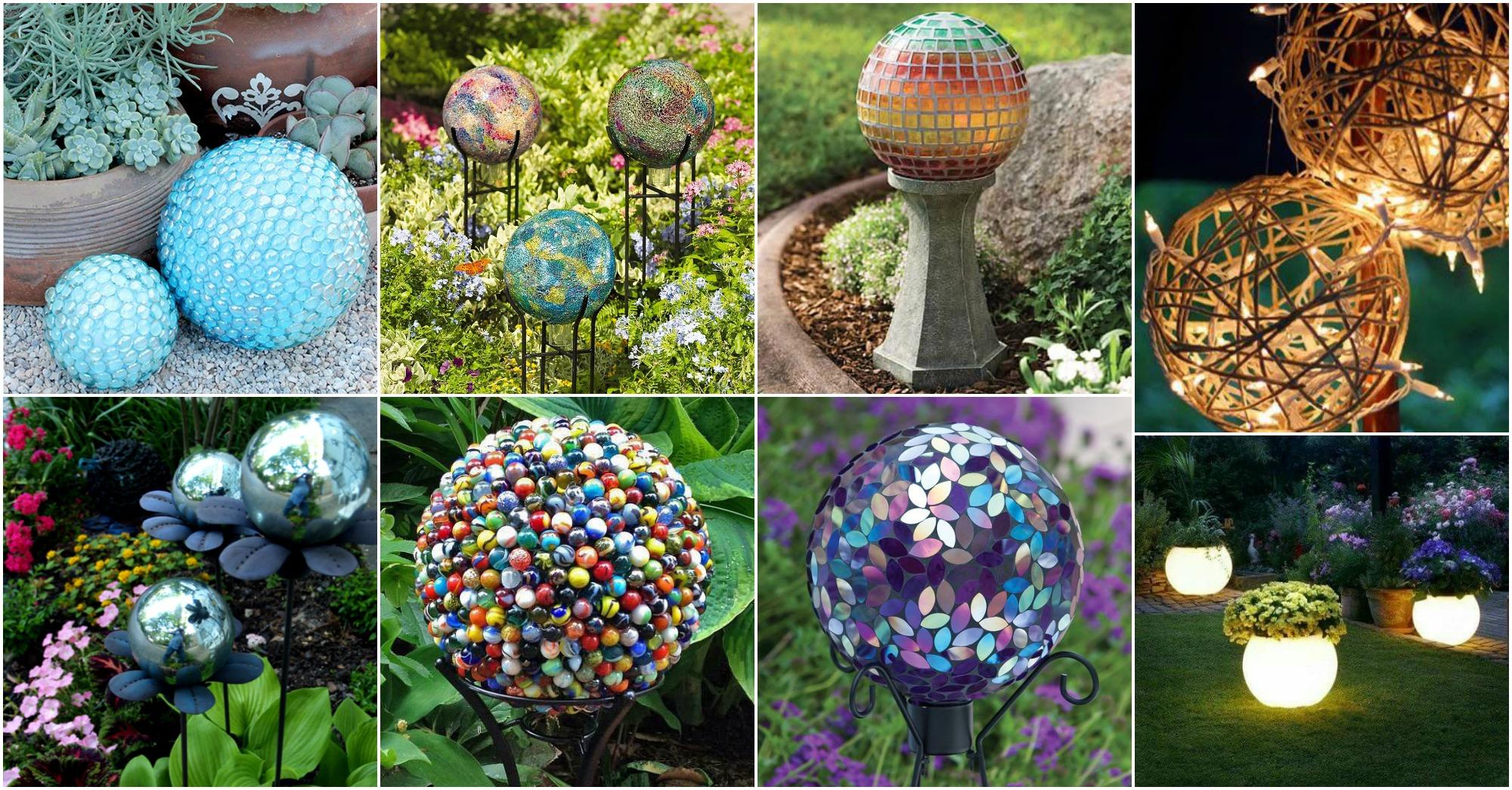 DIY Adorable Garden Globes That Will Beautify Your Garden on Handmade Diy Garden Decor  id=32175