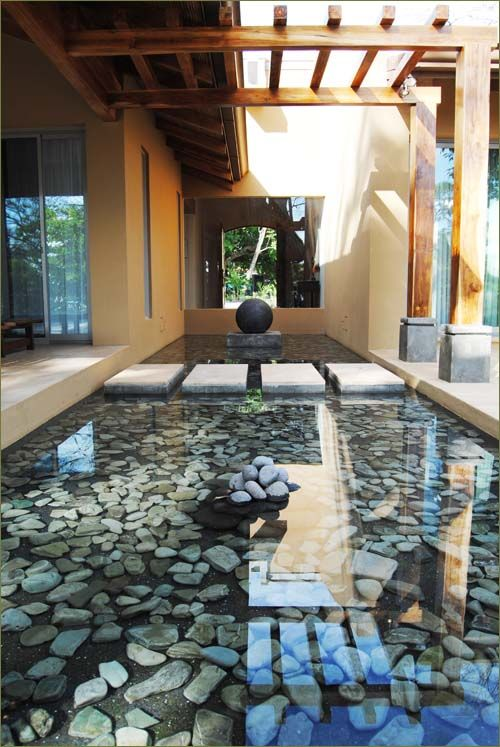 Glass Floor With Stepping Stones