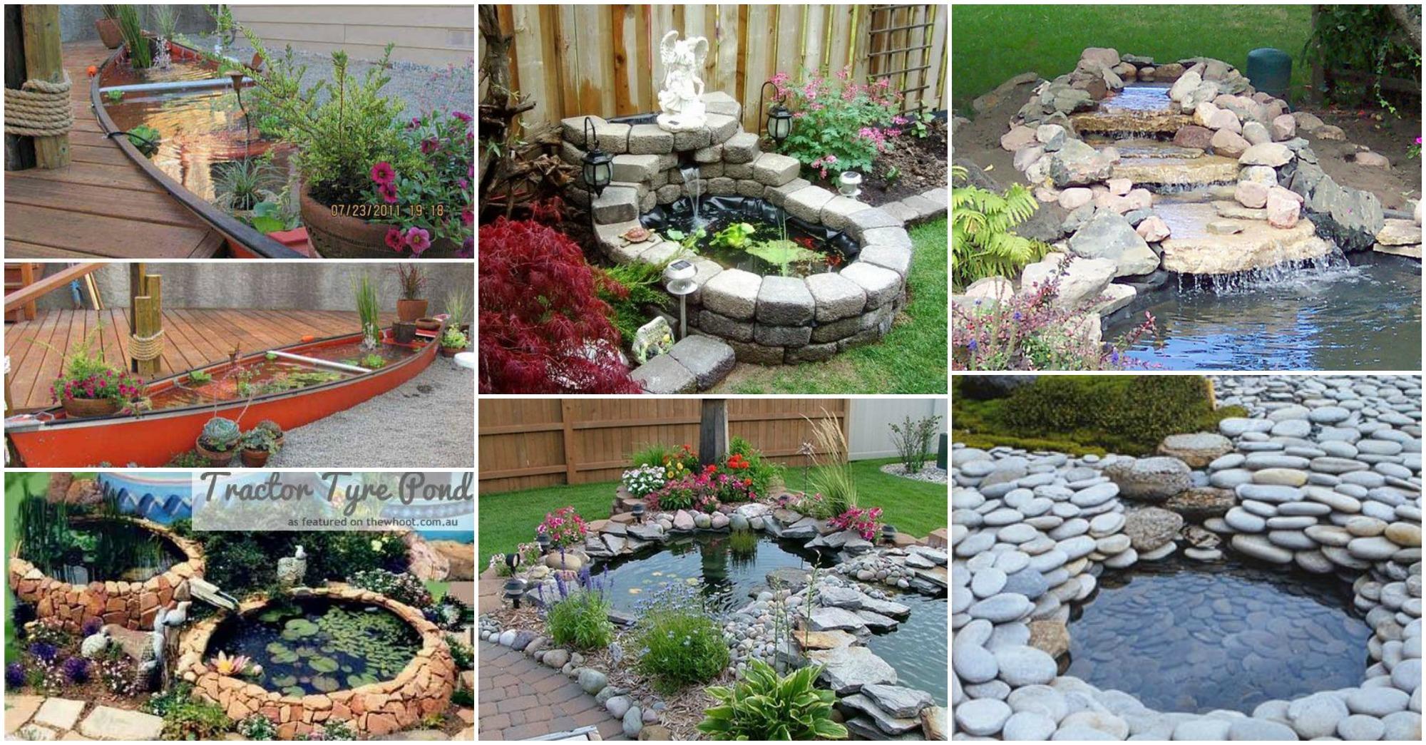 20+ DIY Backyard Pond Ideas On A Budget That You Will Love on Diy Small Patio Ideas id=18801