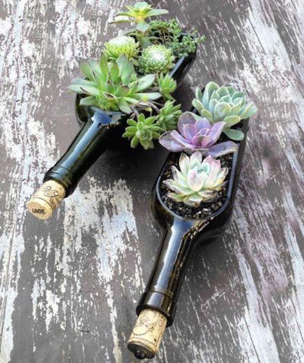 botellas de vino-jardín-decor11