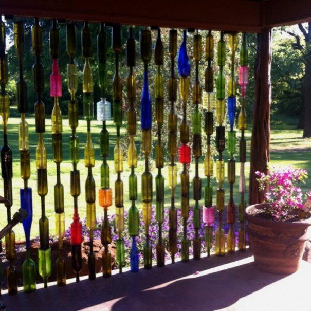 botellas de vino-jardín-decor6