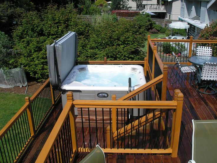 Deck Design Ideas With Hot Tubs That Will Blow Your Mind on Deck And Hot Tub Ideas  id=34438