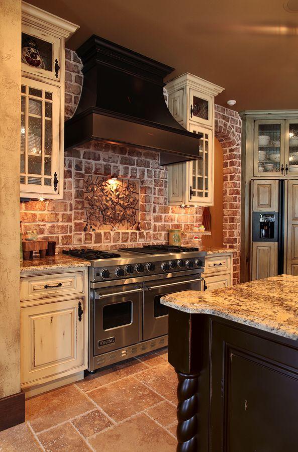 20+ Modern Exposed Brick Wall Kitchen Interior Designs on Rustic:rkh3E0Gkuju= Farmhouse Kitchen Ideas  id=71382