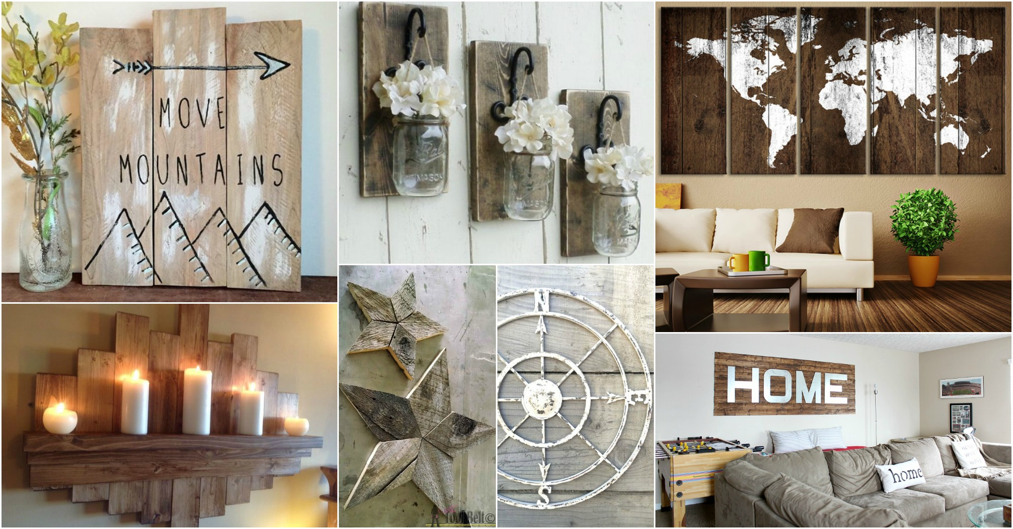 Rustic Wall Art Ideas To Spice Up The Atmosphere on Wall Decoration  id=23223