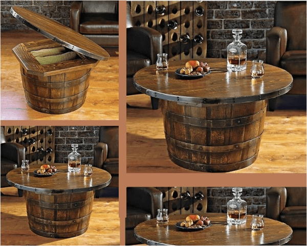Whiskey Table Barrel Coffee