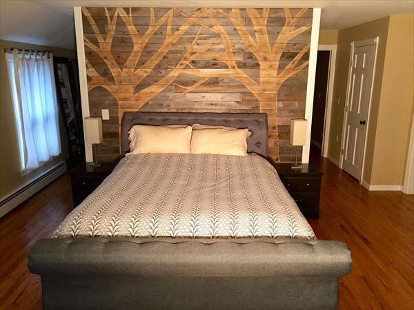 Wood Pallet Wall Paneling Trend That You Will Love on Pallet Ideas For Bedroom  id=74888