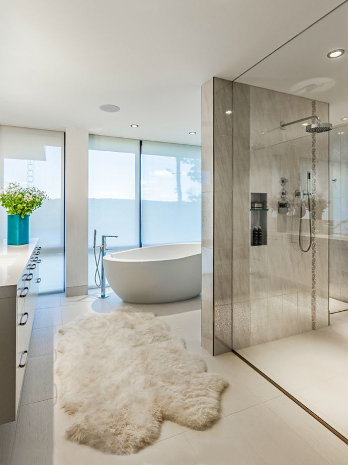 Modern Bathroom Decorations With Green Plants