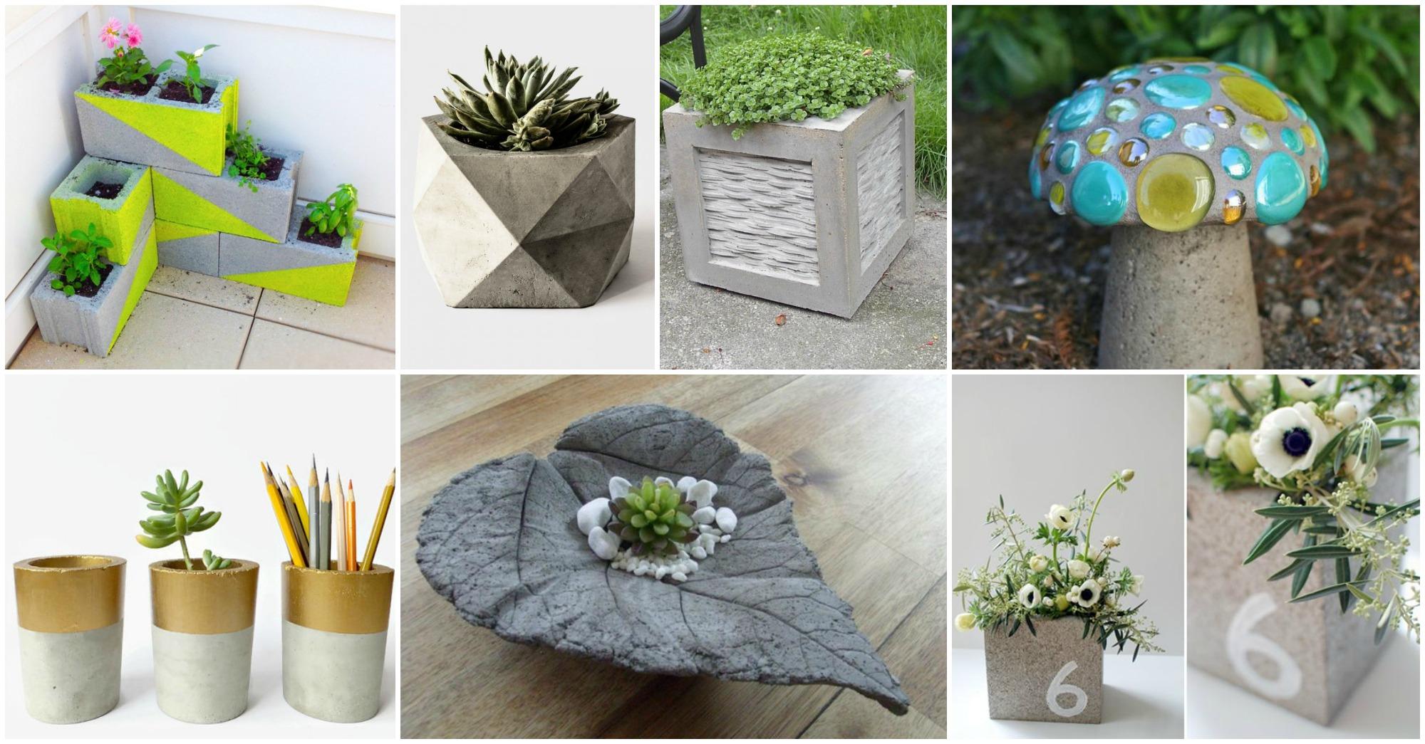 DIY Concrete Decor Ideas For Your Home and Garden on Diy Garden Decor  id=54111