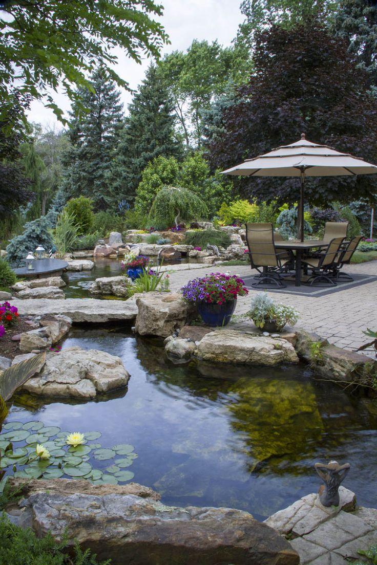Beautiful Garden Ponds That Will Catch Your Eye on Backyard Landscape  id=60855