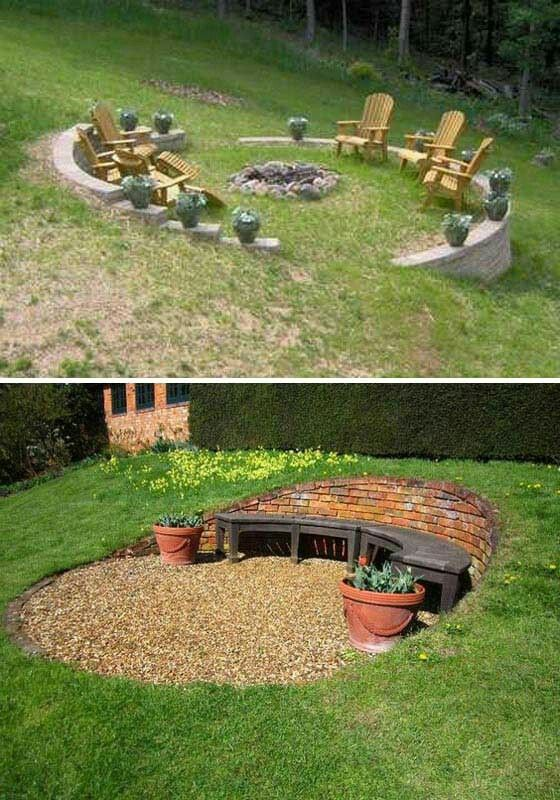 Slope Yard Designs To Beautify Every Piece Of Your Yard on Patio On A Slope Ideas id=53037