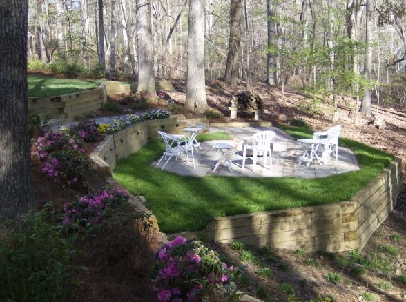 Slope Yard Designs To Beautify Every Piece Of Your Yard on Backyard Lawn Designs  id=66028