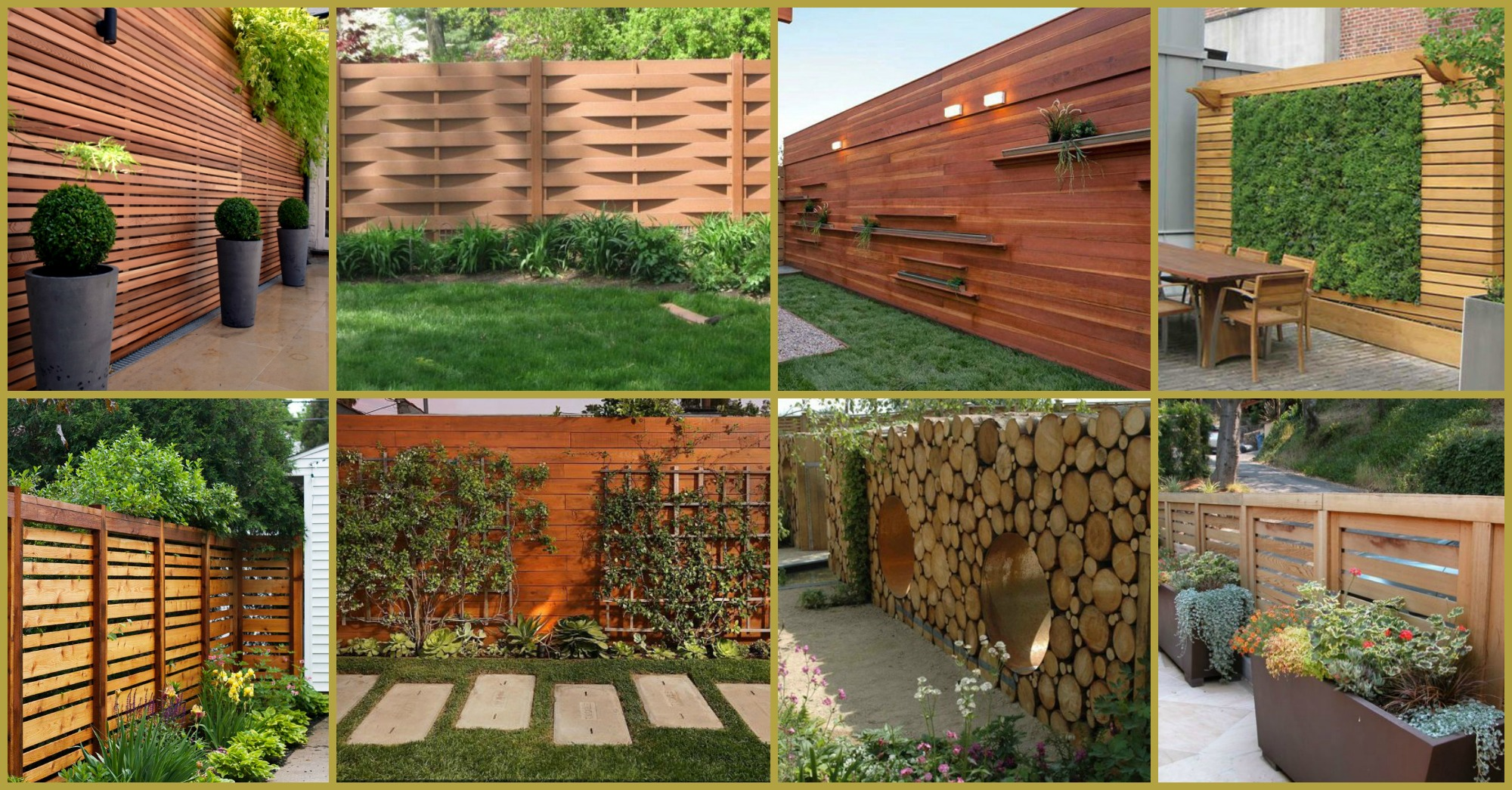 Wonderful Wooden Fence Ideas For Your Outdoor Decor on Backyard Wall Decor Ideas  id=23590