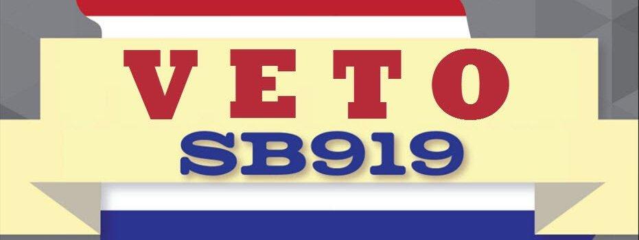 vetoSB919