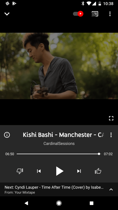 Google Play to YouTube Screenshot